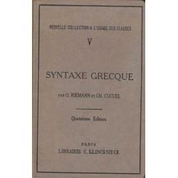 Syntaxe grecque - O.Riemann...
