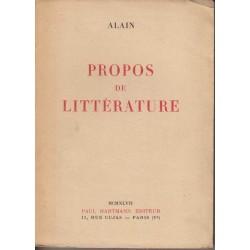 Propos de littérature - Alain