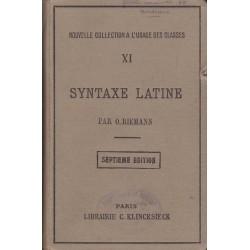 Syntaxe latine - O. Riemann