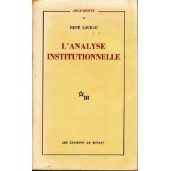 L'analyse institutionnelle...