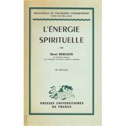 L'énergie spirituelle - Henri Bergson