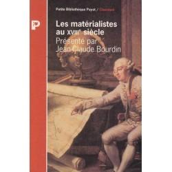 Les matérialistes au XVIII°...